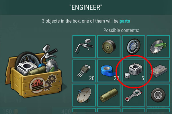 last day on earth survival where to get engine parts