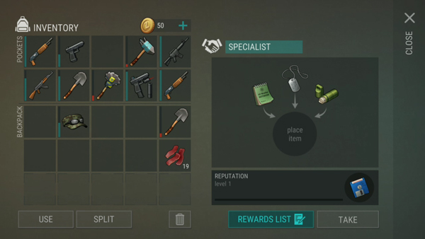 last day on earth reputation items